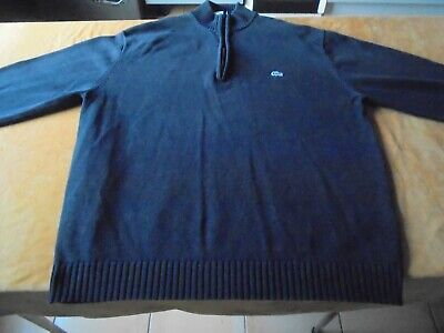 4f8a48782e5 PULL LACOSTE HOMME Pull col rond CR18 noir - EUR 85