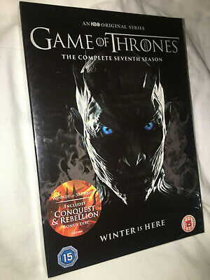 Game of Thrones Season 7 The Complete Seventh 7th Series DVD + Conquest & Rebel