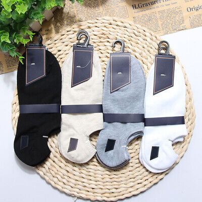 4 Pairs Mens Thin Low Cut Ankle Socks Non-Slip Sport Summer Soft Cotton Socks US