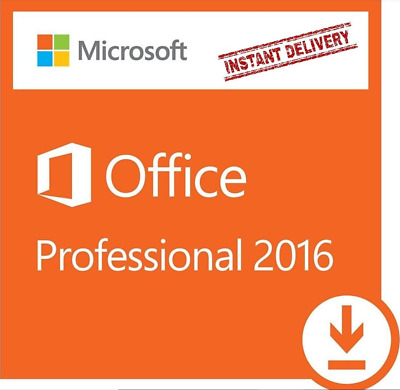 Microsoft Office 2016 Professional Plus Product Key & Software Windows *instant*