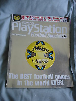 Official UK Playstation magazine with disc - Football special issue