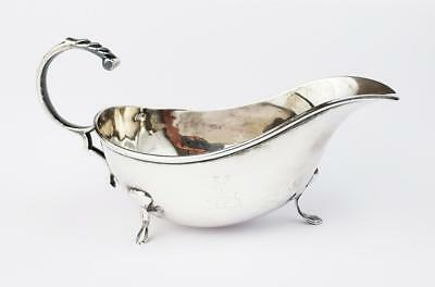 Antique STERLING SILVER SAUCE BOAT Chester c1900
