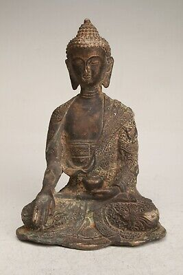 Chinese Bronze Hand Carving Buddha Statue Collection Decoration