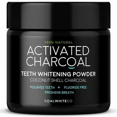 Activated Charcoal Natural Teeth Whitening Powder Peppermint Flavour by Coal Whi