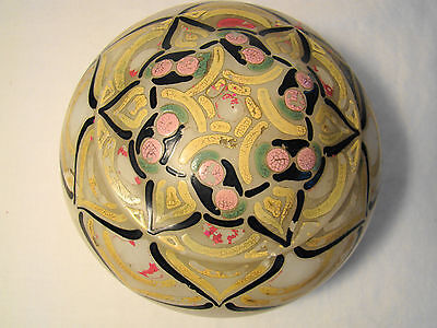 Signed French Art Nouveau Alabaster Covered Box 1st quarter 20th c