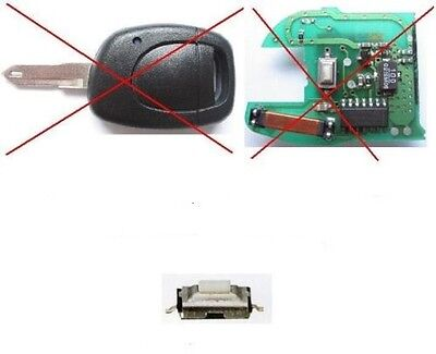 Boutons Switch Coque Cle Pilp Renault Clio, Twingo, Kangoo