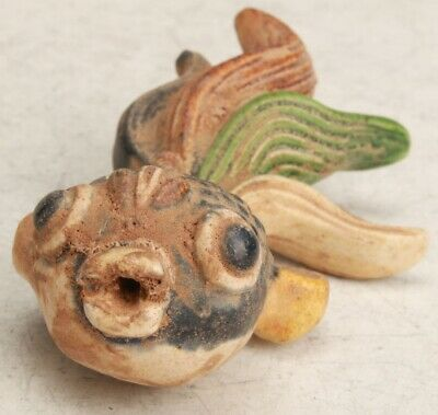 Chinese Ceramic Handmade Carving Fish Statue Collection Decorative Gift