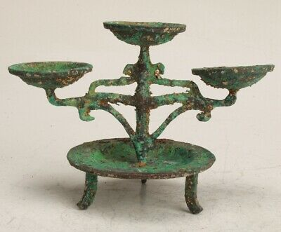 Chinese Bronze Handmade Carving Wax Table Pendant Collection Gift Decoration