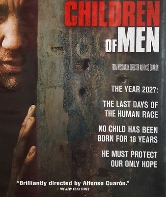 CHILDREN OF MEN ~ NEW DVD no CHILDREN SCI-FI choreographed cinema FUTURE HORROR