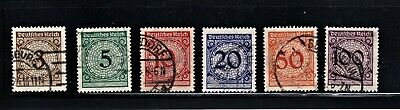 Hick Girl Stamp-Old Used German  Stamp  Assortment Of Numbers     M637