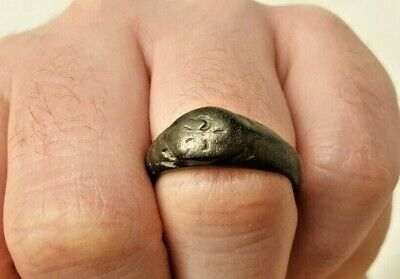 ROMAN AGED BRONZE ANCIENT RING / nice early jewelry
