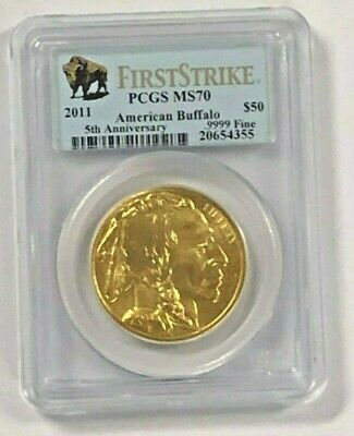 1 oz MS70 American Buffalo $50 Gold Random Year 1 oz in PCGS / NGC Dealer Choice