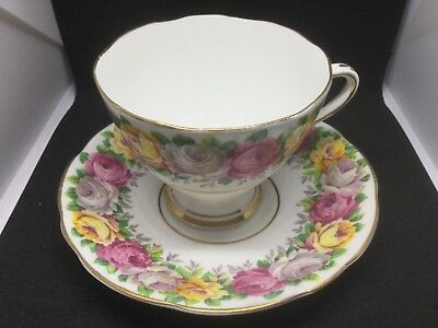 "Vintage GLADSTONE Bone China ""Rosemary""  Teacup"