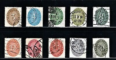 Hick Girl Stamp-Old Used German  Stamp Assortment Of Numbers    M643