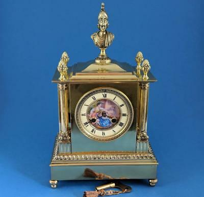 Perfect 19th Century French F. Marti Bronze striking 8 day Mantel Clock