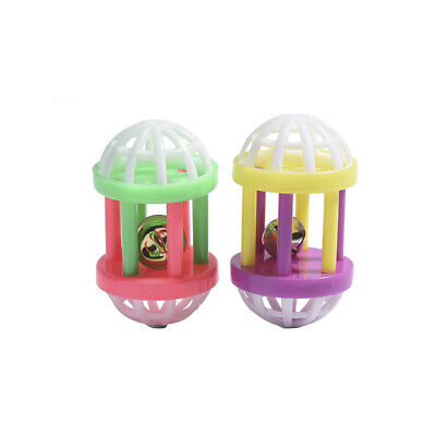 2X Plastic cat toy with dumbbell jingle pet dog training sound Funny toy-T