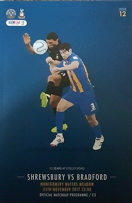 SHREWSBURY TOWN v BRADFORD CITY 2017/18