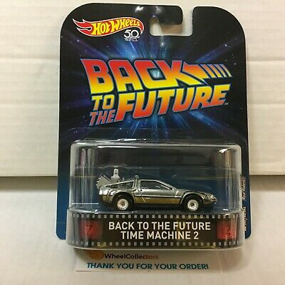 Back To The Future Time Machine 2 * Hot Wheels 50th Retro Series * HG9