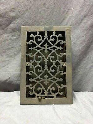 Antique Cast Iron Decorative Heat Grate floor Register 8X12 Vintage 92-19D