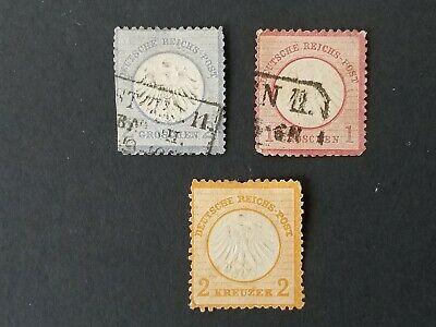 Germany, Deutschland lot of 1870's stamps in mixed condition
