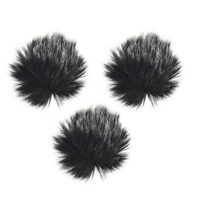 Furry Outdoor Microphone Windscreen Muff Mini Lapel Lavalier Microphone G8J2