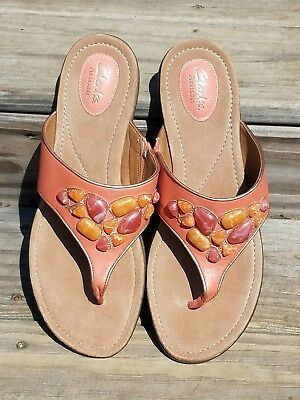 141bbb0d5a51 LOVELY! CLARKS Artisan Women s River Rocks Coral Sandals
