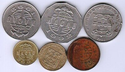 6 different world coins from MACAU