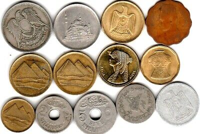 13 different world coins from EGYPT