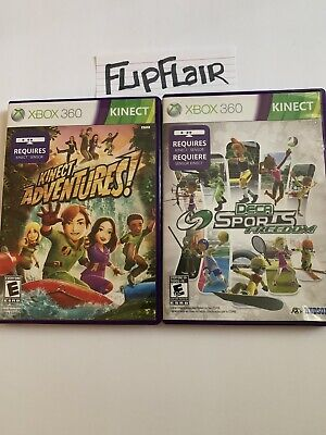 Xbox 360 Kinect Games lot of 2 Games Kinect Adventures & Deca Sports Freedom