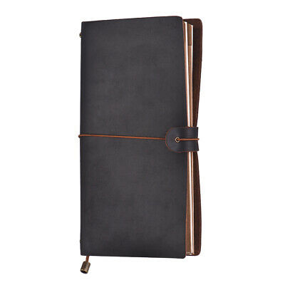 PU Leather Journal Diary Notebook Lined Blank Paper Planner Travel Notepad J0Y7