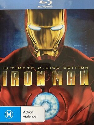 IRON MAN - Ultimate 2-Disc Edition BLURAY Metal Slipcase Packaging 2008 AS NEW!