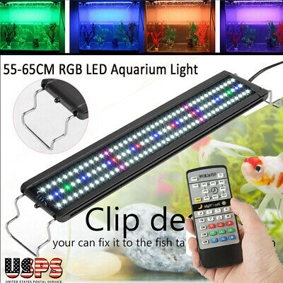 Multi Color Aquarium 72 LED Light Fish Tank Light Plant Grow LED Lighting Lamp