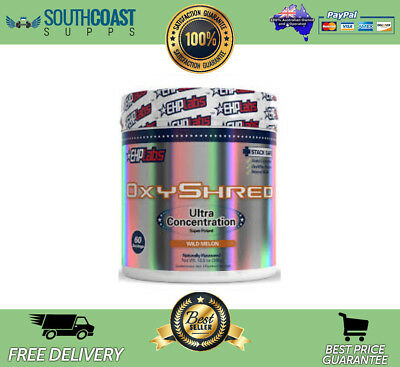 New Ehplabs Oxyshred Thermogenic Best Selling Fat Burner Wild Melon 60 Serves