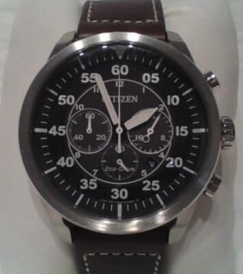 Citizen CA4210-24E Eco-Drive Men's Stainless Steel Leather Avion Watch $395