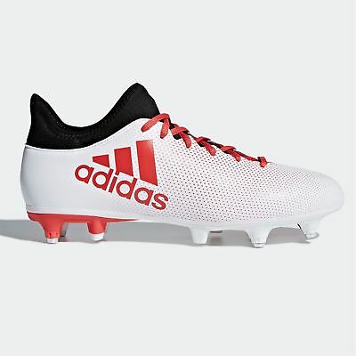 f680babeb3a adidas X 17.3 SG Soft Ground Football Boots Mens White Soccer Shoes Cleats