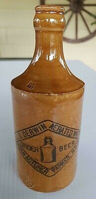 J G Derwin Parkes NSW Crown Seal Ginger Beer Pictorial Mauri Bros Thomson Sydney