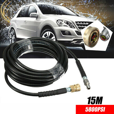 High Pressure Washer Washing Hose Tube Pipe 3//8 Quick Connect Car 49ft 5800PSI