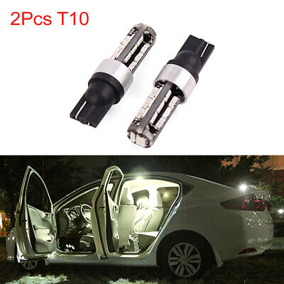 2pcs T10 W5W 27 4014 SMD LED Yellow Car Interior Door Panel Wedge Light Bulbs