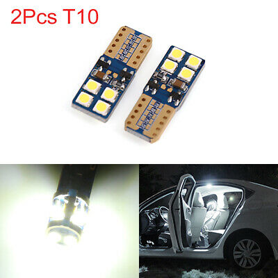 2pcs Canbus T10 W5W 8 3030-SMD-LED White Car Wedge Light Bulbs Dome Lamp 168 194