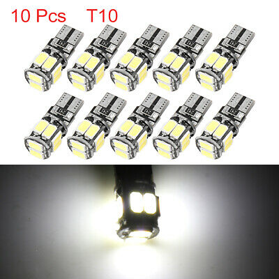 10pcs T10 W5W 10 5630-SMD-LED White Car Wedge Interior Light Bulbs 194 168 579