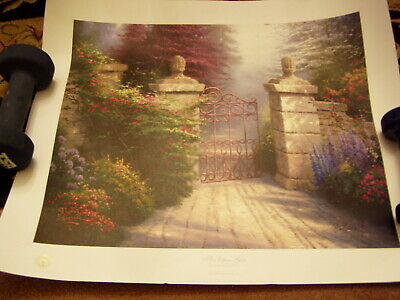 Thomas Kinkade Signed Limited Edition of The Open Gate, Summer Gate II