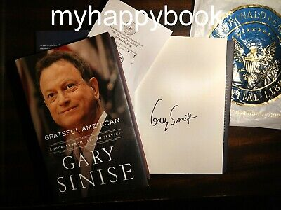 SIGNED Grateful American by Gary Sinise, autographed with event photos, new