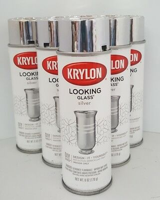 Krylon Looking Glass Spray mirror paint - 6 CANS BULK PRICE - AUS seller