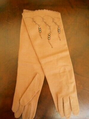 Vintage Elbow Length Evening Gloves Made In Germany (West Zone) By Francois