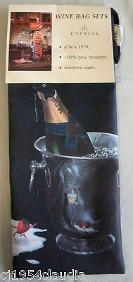 Wine Bag Reusable Perfect For Gift Giving Qty Of 3 Wine Bags