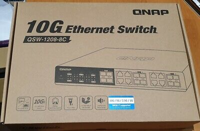 QNAP QSW-1208-8C 10G Unmanaged Switch, 4 Ports 10G SFP+, 8 Ports Combo 10G RJ-45