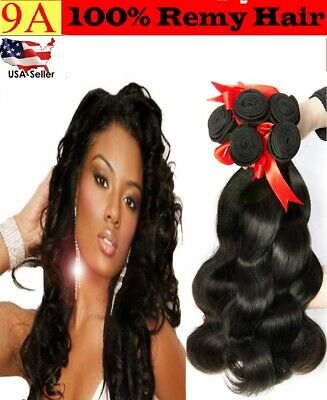 9a Virgin Remy Body Wave 100% sin Procesar Pelo Natural Negro 1or3 Paquetes