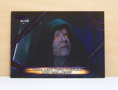 2018 Star Wars Galactic Files Purple parallel /99 Emperor Palpatine quotes MQ-3
