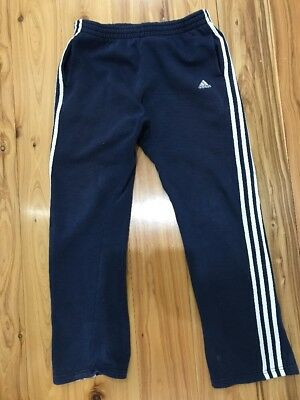 Adidas Navy 3 Stripe Track Pants, Size 13-14 Y