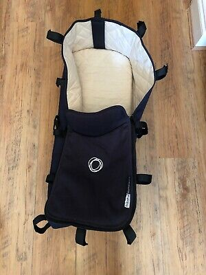 Bugaboo Cameleon 1 2 3 Carrycot Bassinet Navy Blue And Cream